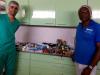 Ruben Lopez y Orlando con materiales de servico tecnico 23 MSCV Africa Avanza 3