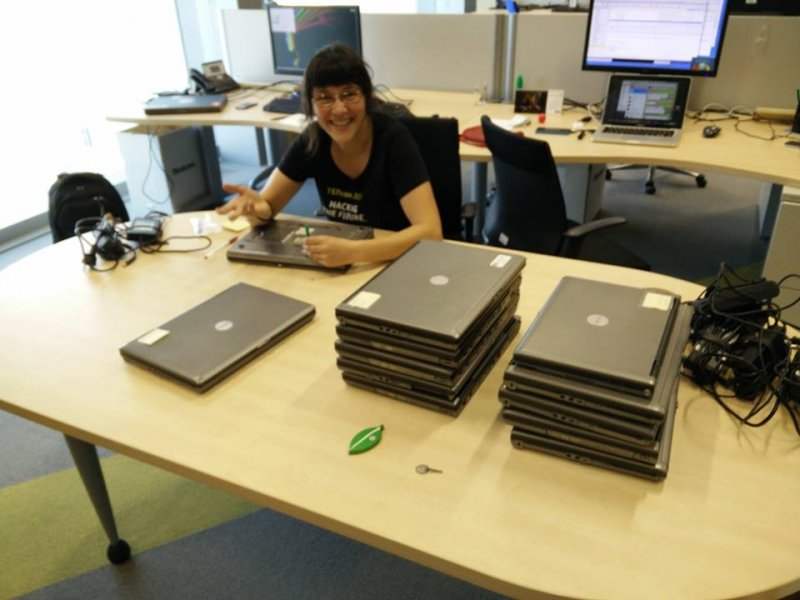 Preparación de ordenadores  del aula Integranet 2015