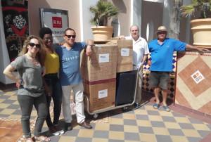 Voluntarios de la 20ª MSCV en Riu