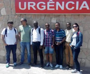 Voluntarios de AA con Personal de Sal, en la 21ª del MSCV