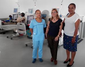 Internista Dra. Clara Brito, Nefróloga Dra. Olga Gonzalez y  DNS Dra. María Lima