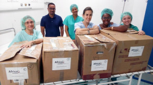 Voluntarios MSCV 22ª a la llegada al Hospital de Sal