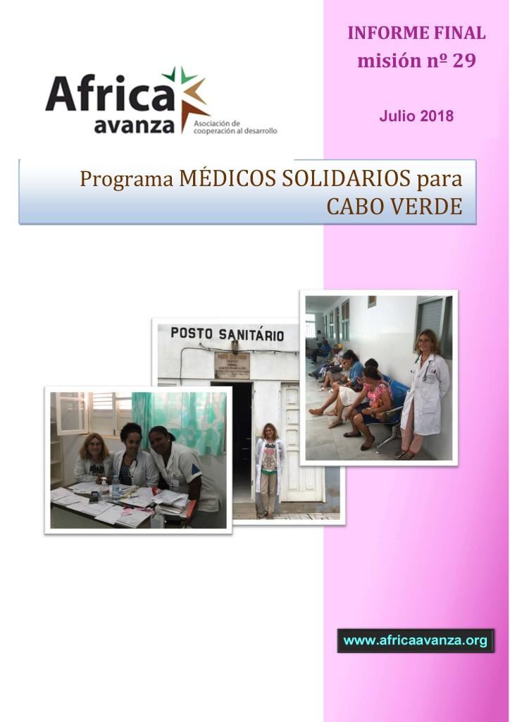 Portada Relatorio 29 Fase MSCV Julio 2018