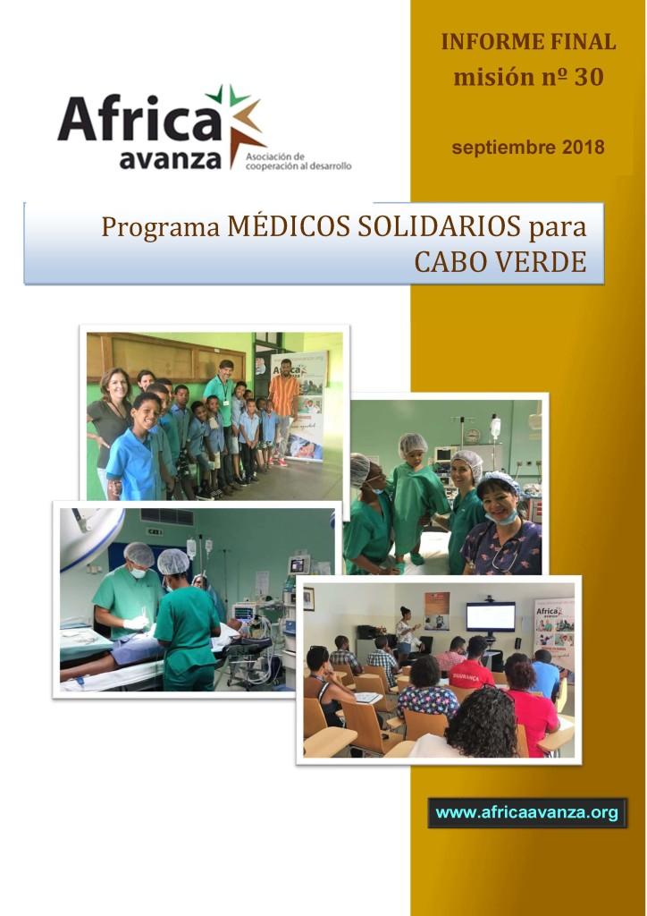 Portada Relatorio 30 Fase MSCV Septiembre 2018
